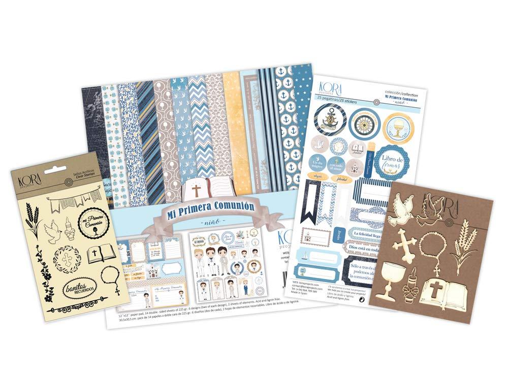 Kit per scrapbooking–Primera Comunione–Bambino KORA projects