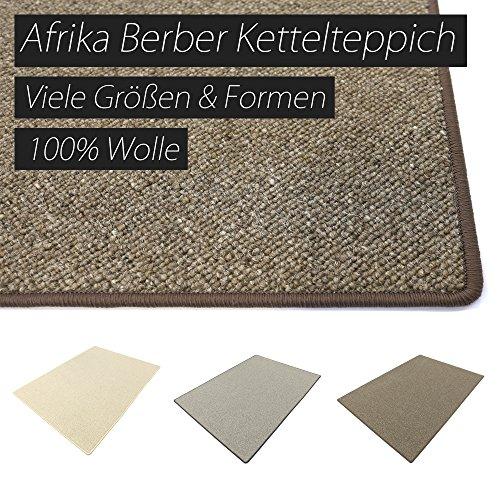 Afrika wollweiss HEVO ® Berber Kettelteppiche Teppiche   Kinderteppiche   Spielteppiche 200x280 cm