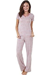 f018849f7f BHS Ladies Short Sleeve Floral Print PJ Set Stretch Nightwear Womens Pyjamas