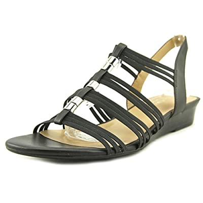Naturalizer Womens Jilly Open Toe Casual Fabric Wedged Sandals