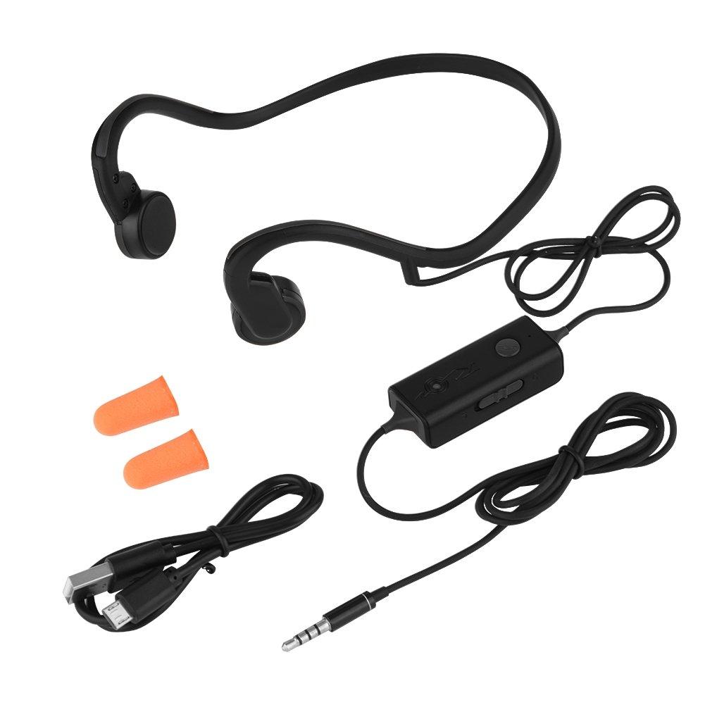 Fosa Open Ear Bone Conduction Headphones, Sweatproof Wired Titanium Headset Open-ear Built-in Mic for Sports, Running, Cycling (Orange) 4336636959