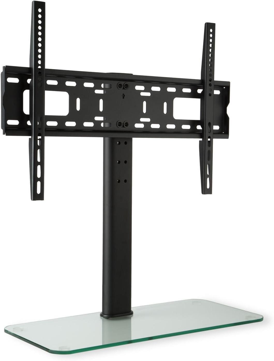 Auna Soporte para televisor Tamaño L Regulable en Altura hasta 56cm (Ideal sujeción televisión 23-55 Pulgadas, 3 Niveles, Base TV de Cristal): Amazon.es: Electrónica