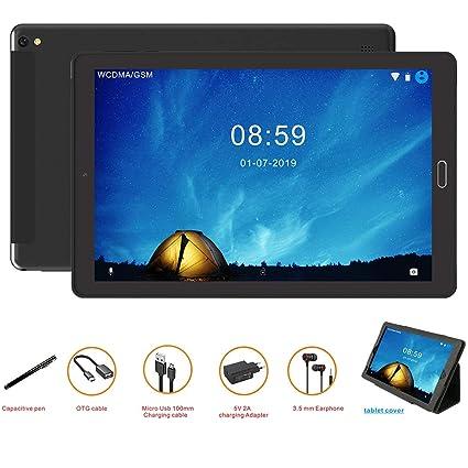 GOODTEL G2 Tablet Android 10 Pulgadas Tableta Android 8.0,4G Phablet Con Ranuras Para Tarjetas SIM Dobles, Procesador de Cuatro Núcleos, 1.5GHz, 3G + ...