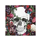 Halloween Decorations Paper Napkins Skull Skeleton 40 Paper Party Napkins 6'' Folded