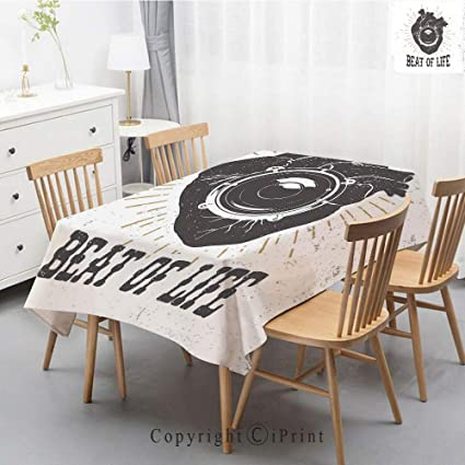 Amazon Com Premium Linen Printed Tablecloth Ideal For Grand