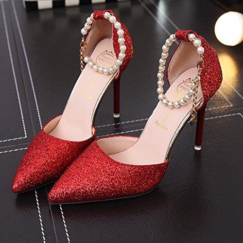 Rouge Femmes Yalanshop Lumire Side Ceinture Light Sandales 918 Vide Eur35 9 Avec Baotou 88azqTS