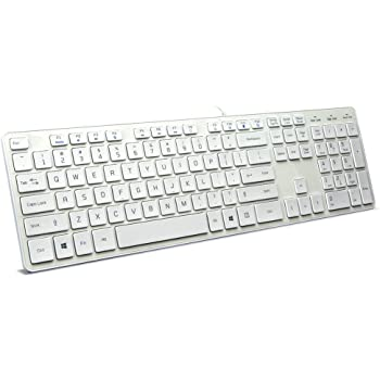 bfriendit wired usb keyboard comfortable quiet chocolate keys durable ultra slim. Black Bedroom Furniture Sets. Home Design Ideas