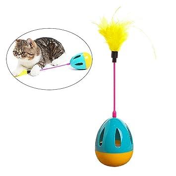UEETEK Juguetes interactivos gato juguete gatito juguete bola con plumas divertido juguete bola: Amazon.es: Deportes y aire libre