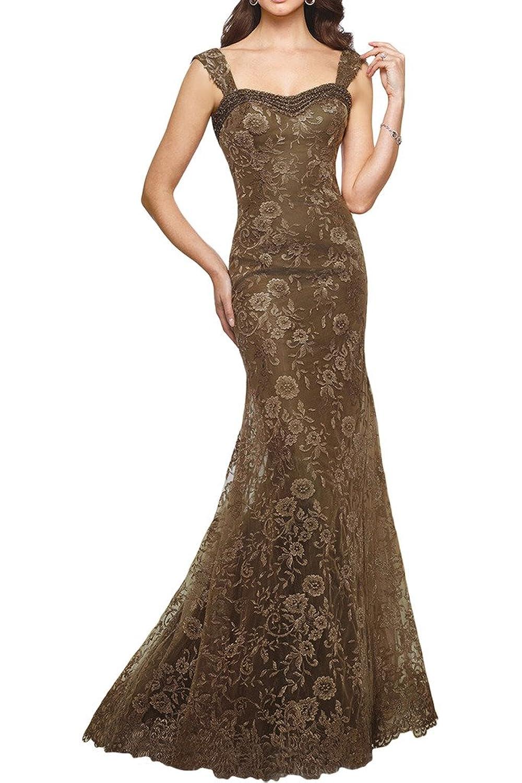 Gorgeous Bride Mermaid Detachable Straps Lace Mother of the Bride Dress