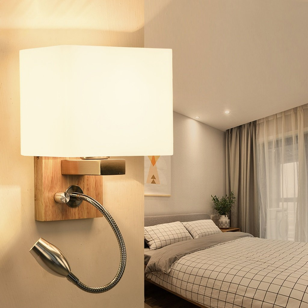 Great St. D G F Massivholz Wandleuchte Schlafzimmer Nachttisch Lampe Richtung Einstellbare LED Leselicht E27
