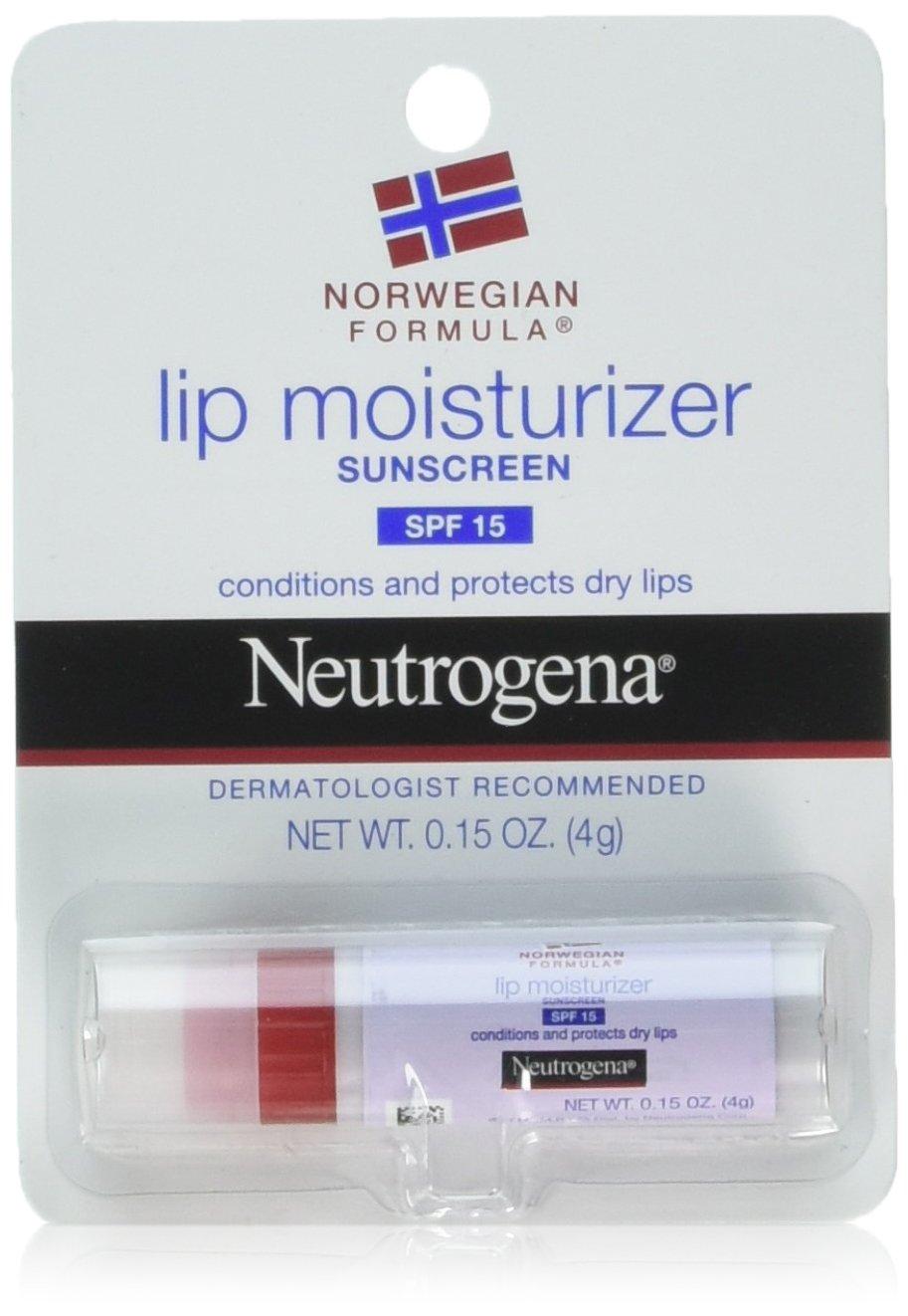 Neutrogena Norwegian Formula Lip Moisturizer With Sunscreen, Spf 15.15 Oz. (Pack of 2) Neu-9578