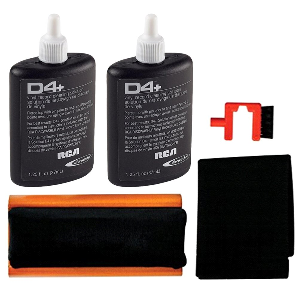 New Improved RCA RD-1006Z Discwasher Vinyl Record Care System + 1 Extra RD-1046 Fluid