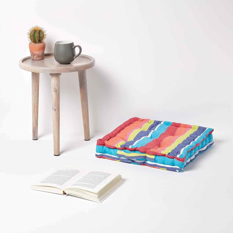 Homescapes Coussin de Chaise /à Motif Tartan Couleur Vert Bleu et Noir Fait en 100/% Coton 40x40 cm pour Chaise de Salon et Chaise de Jardin