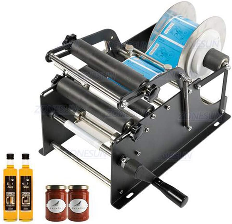 Manual simples latas de cerveza Agua Vino de cristal etiqueta engomada adhesiva Labeler aplicador plástico redondo Botella Iabeling Máquina