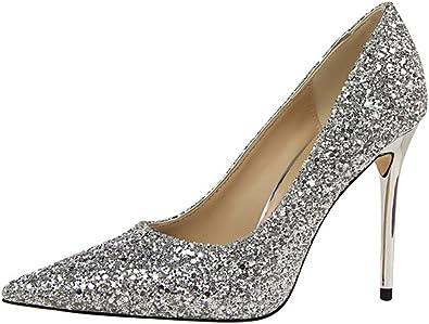 KISSYAYA Femmes Sandale Bout Ouvert Talons Hauts Chaussures Soir/ée
