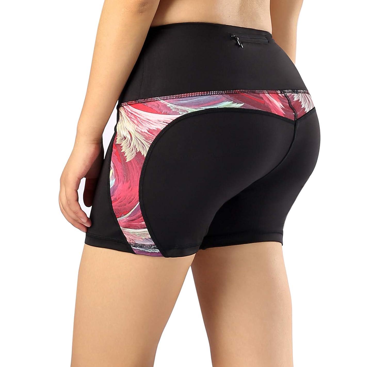 Munvot Damen Yogahose Sporthose Shorts mit Taschen für Fitness T01/UO1/CA01