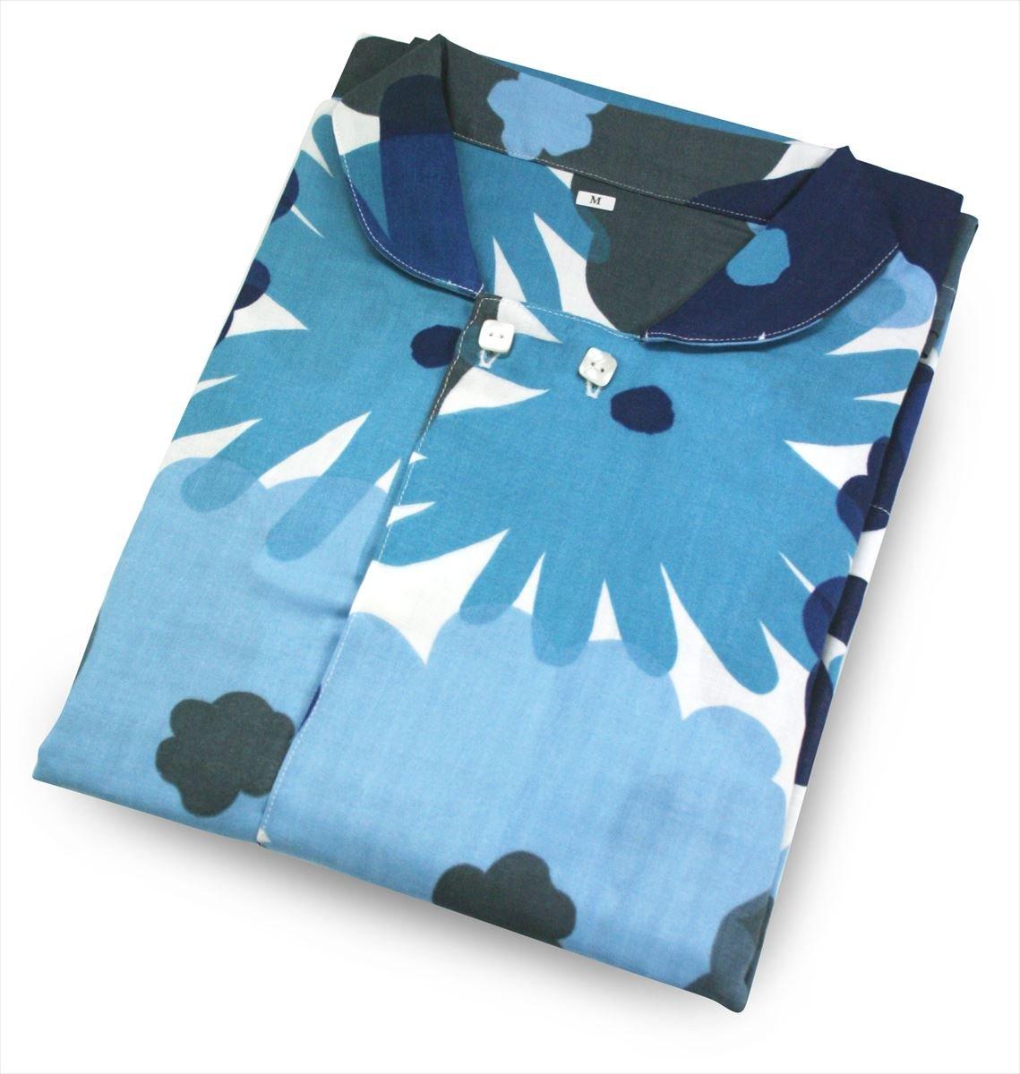 【ロマンス小杉】 SOUSOU 日本製 レディースパジャマ (M) おおらかとりどり/ブルー 1-2430-1202-7700 B06Y1NJ7WR Mサイズ|ブルー ブルー Mサイズ
