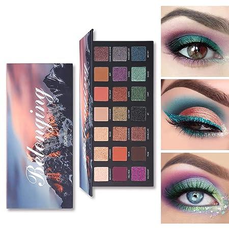 LanLan 21 Colores chatoyante Mate Sombra de Ojos Paleta de ...