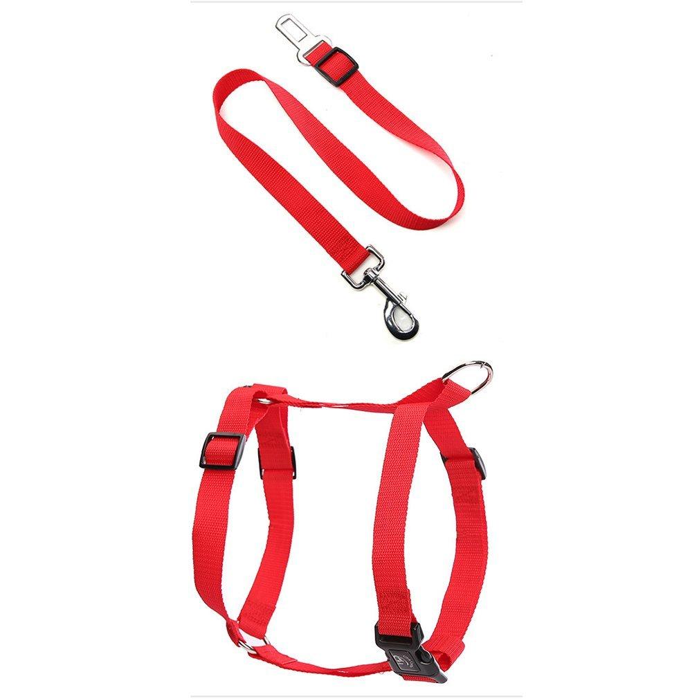 Rojo Nailon Ajustable coche cinturón de seguridad fija Cuerda ...