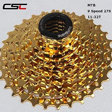 CSCbike Sunshine Bicicleta de montaña de 9 velocidades 11-32/11-40 ...
