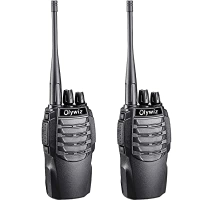 Olywiz Walkie Talkie Rechargeable Two-Way Radio Long Range UHF406-470Mhz 1800mAH Battery (Ultra-Long Standby) Loud&Clear Dual Desktop Charger with USB Cable 2 Pack HTD826: Car Electronics