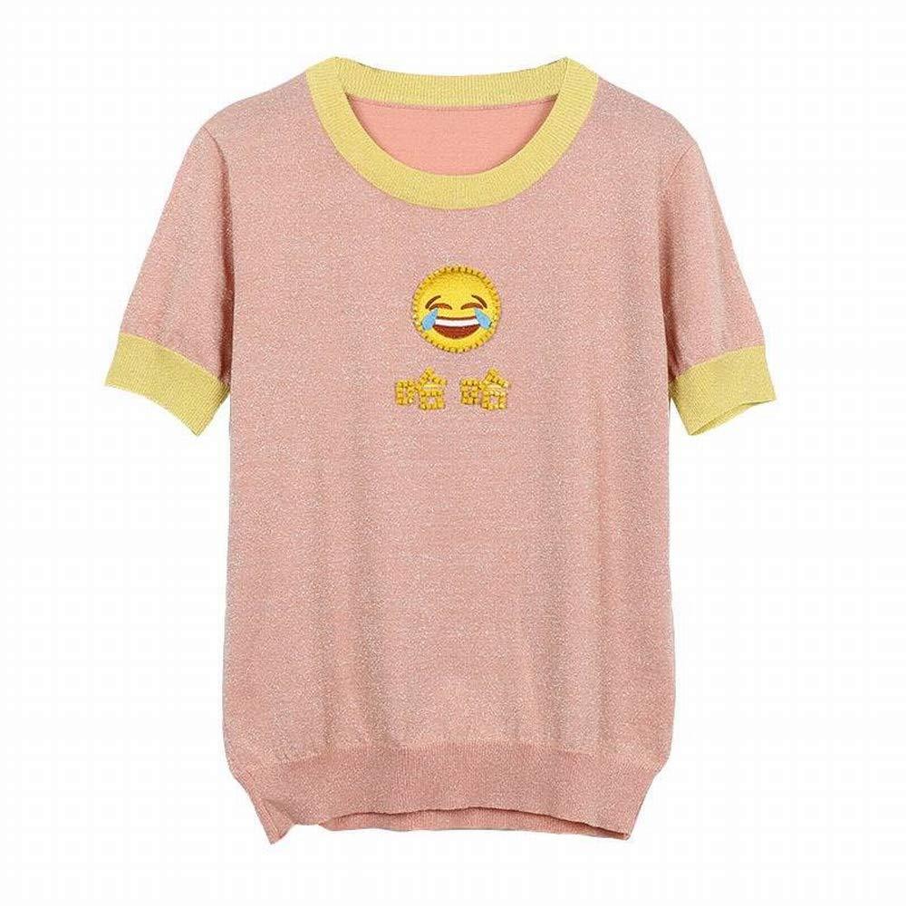 Katylen Mode-EIS Seide Kurzärmelige Seide Bestickte Bodenbildung Shirt Stricken Shirt Shirt Shirt Frauen B07GVDM82N Bekleidung Heißer Verkauf 30a3b0