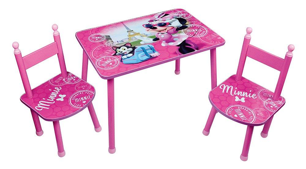 Unbekannt Fun House Disney Minnie Tisch mit 2Stühle für Kinder, MDF/Metall, 60x 40x 44cm CIJEP 712885