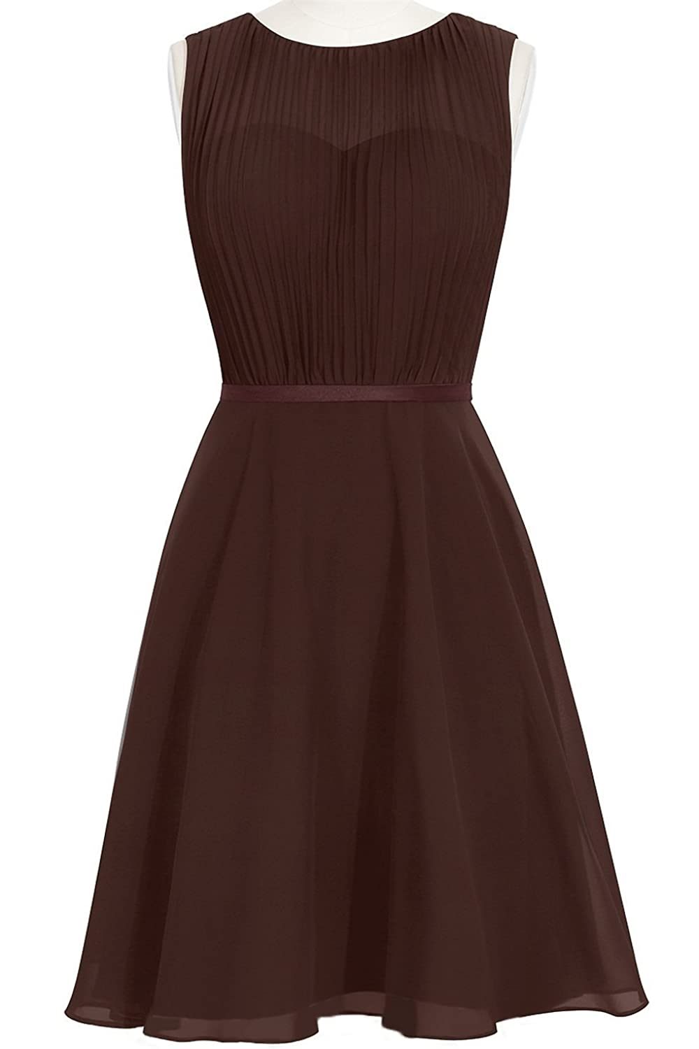 MittyDresses 2015 New Cocktail Homecoming Dresses for Girl Evening Party Size 18W US Chocolate