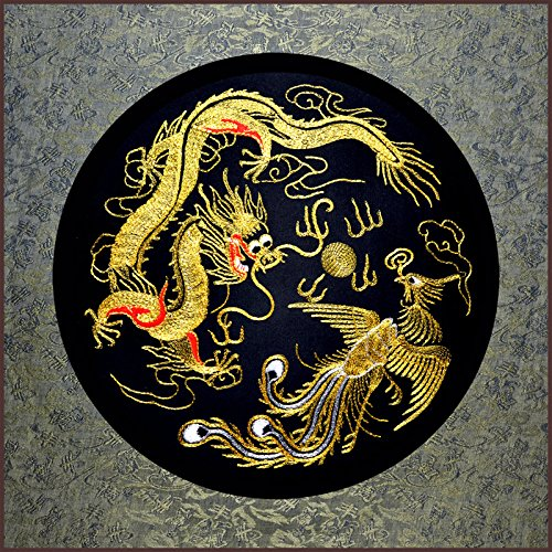 (Grace Art, Large Asian Silk Embroidery Art Wall Hanging, Dragon &)