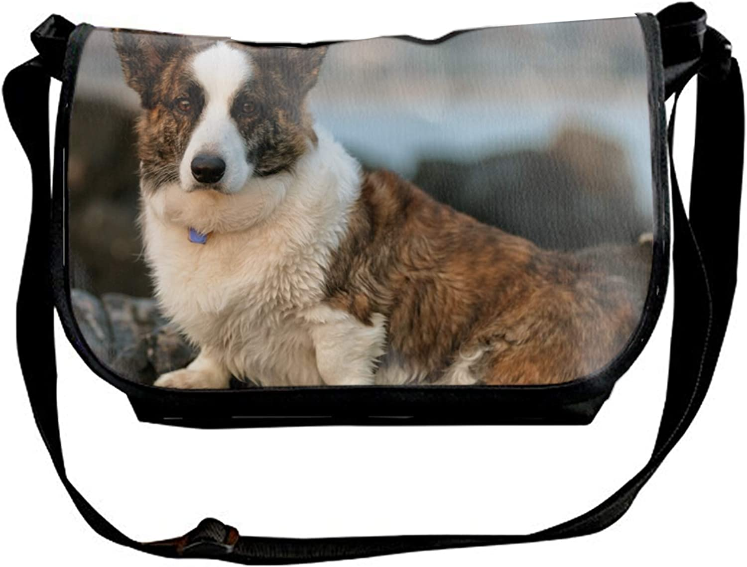 Fashion Casual and Popular Sling Bag Crossbody Bag Shoulder Bag with Saint Bernard Love