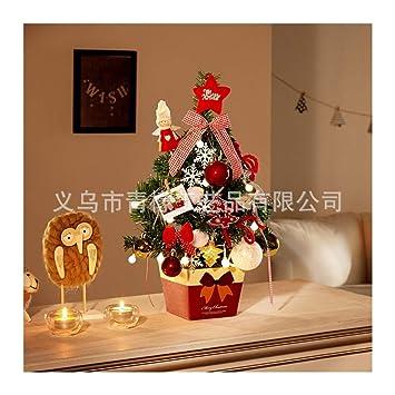 Wufangff Mini Sapin De Noël Rouge Fleurs De Noël Arbre De Noël De