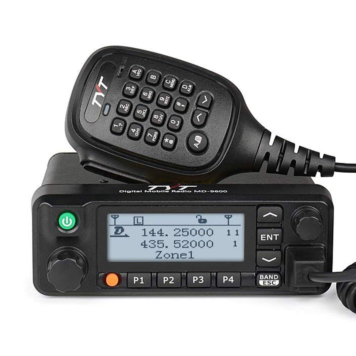 TYT MD-9600 Dual Band Digital DMR Mobile Car Truck Transceiver, VHF/UHF 3000 Channels,10000 Contacts, 250 Zones, 50W VHF/45W UHF/25W Amateur Ham Radio with Programming Cable