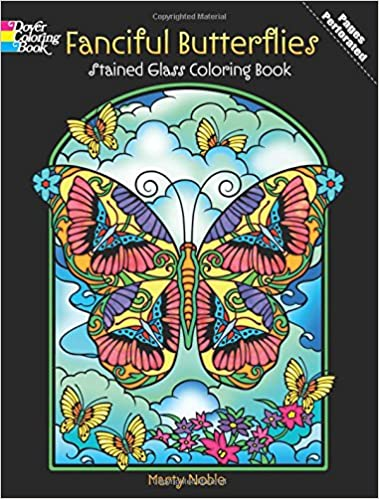 Dover Stained Glass Color Book Fancy Butterflies Dp486494 Dover