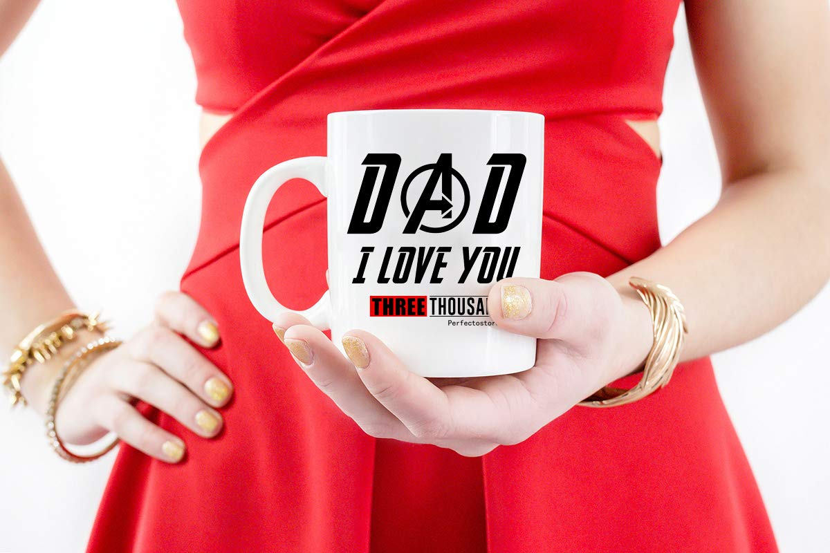 PerfectoStore I Love You 3000 Dad Gifts from Daughter If Had Differen't Dad I'd Kick Him in Face Dad Gifts from Son Funny Dad Gift Coffee Mug Tea Cup White by PerfectoStore (Image #3)