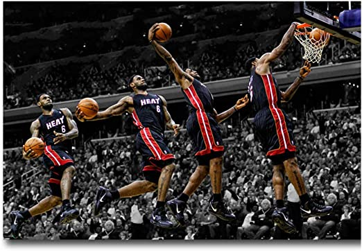 H833 LeBron James Dunks MVP Cleveland Cavaliers Hot Poster 36 27x40in Art Print