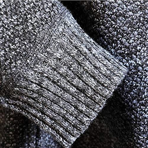 GNYD Giacca da Uomo Sportive Felpa in Cotone Cappuccio con Cerniera Velluto Piu Spesso Maglione Elegante Invernale Caldo Cappotto Casual Cuciture Giuntura Taglie Forti Cardigan