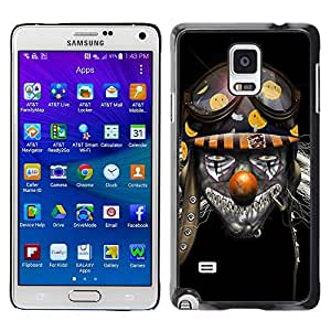 - Clown Evil Joker - - Hard Plastic Protective Aluminum Back Case Skin Cover FOR Samsung Galaxy Note 4 SM-N910 N910 Queen Pattern