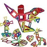MEIGO Magnetic Blocks - Kids Magnetic Building Tiles Set STEM Educational Magnet Toys for Toddlers (70pcs & 30pcs)