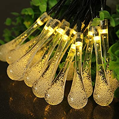 Goodland's Solar Powered String Lights,30 LEDs Crystal Ball Lights for Gardens,Patios,Door or Window decoration,Parties