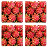 Liili Square Coasters IMAGE ID 10978387 Dragon fruit