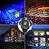 Snow Lights Projector,Christmas Projector Lamp Snowfall LED Lights, Remote Control White Landscape Projection Light for Patio Garden Lawn Xmas Holiday New Year (snow spotlight)