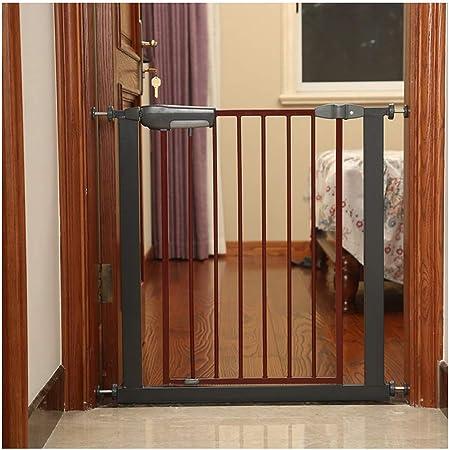WHAIYAO Bebé Puerta De La Escalera Barrera Bebé Mascota Seguridad De La Protección Puerta Infantil Aplicaciones De Escalera Montado A Presión, Cierre Automático (Color : Black, Size : 75-86cm Wide): Amazon.es: Hogar