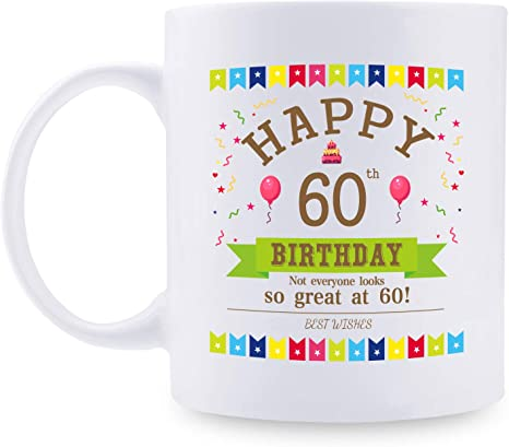 Amazon Com 60th Birthday Gifts For Women 1961 Birthday Gifts For Women 60 Years Old Birthday Gifts Coffee Mug For Mom Wife Friend Sister Her Colleague Coworker 11oz Kitchen Dining