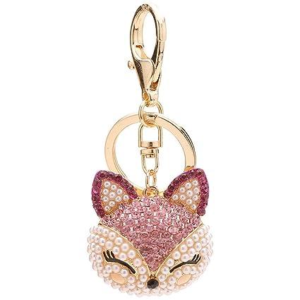 Amazon.com  FOY-MALL Cute Fox Head Rhinestone Pearl Alloy Women Bag ... 62dc0a9b5