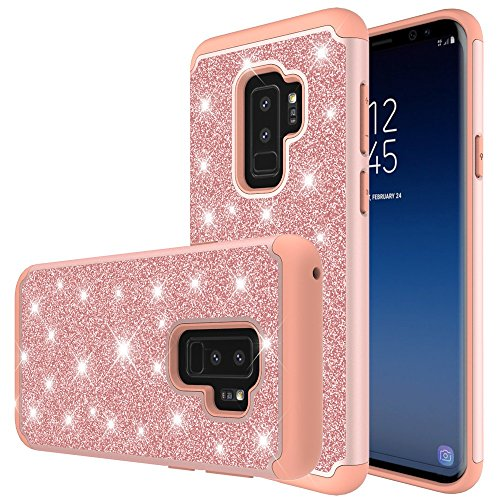 C&U Samsung Galaxy S9 Plus Case Ucc Heavy Duty Protective with Fashion Design for Samsung Galaxy S9 Plus Phone (Rose Gold)