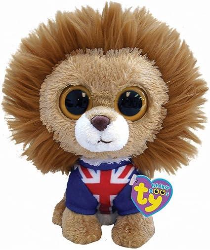 "Lion Union Jack Hero TY Beanie Boo Buddy 9/"" Plush"