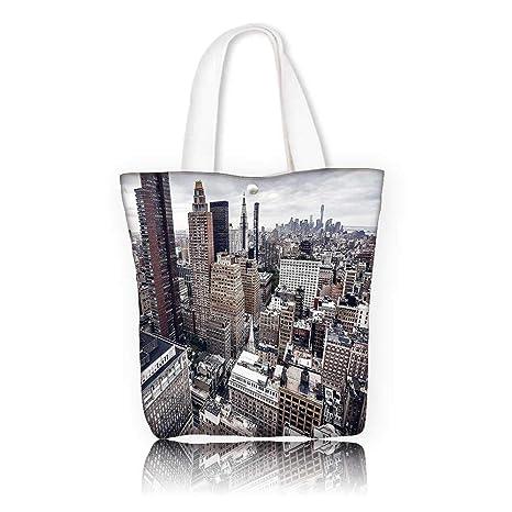 5a6538d1ff Amazon.com  Ladies canvas tote bag -W14 x H15.7 x D4.7 INCH Tote ...