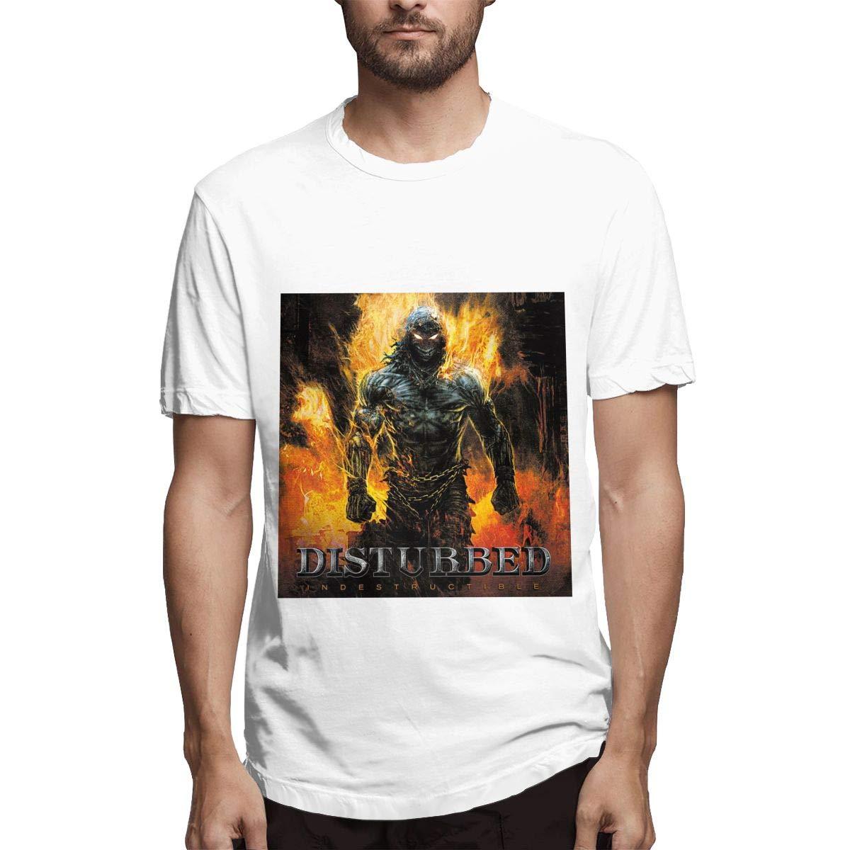 Lihehen Mans Disturbed Retro Printing Round Neck T Shirts