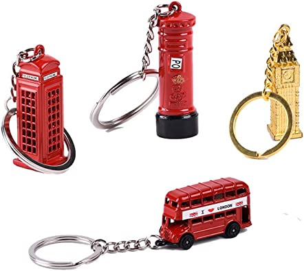 A 4pcs London Souvenirs Keychain Set London Theme Key Ring(Postbox + Phone  Booth + Red Bus + Big Ben) Good Decor for Key or Your Bag.: Amazon.co.uk:  Jewellery
