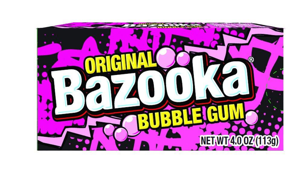 Bazooka Bubble Gum, Original, 9 Count (Pack of 12) by Bazooka